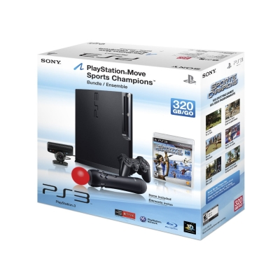 PlayStation 3 Slim HD 320GB com Kit Move