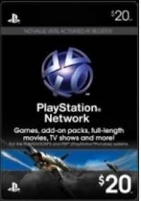 CARTÃO PLAYSTATION NETWORK  $20.00
