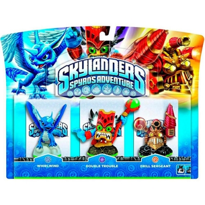 Pack Skylanders Spyro's Adventures - Whirlwind / Double Trouble / Drill Sergeant (3 Bonecos) - Activision